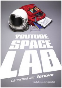 Logo from the YouTube Space Lab competition that engaged students around the world to suggest and have the chance to launch their microgravity investigations to be conducted aboard the International Space Station. (YouTube Space Lab)