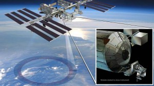 Artist's rendering of NASA's ISS-RapidScat instrument (inset), which launched to the International Space Station in 2014 to measure ocean surface wind speed and direction and help improve weather forecasts, including hurricane monitoring. It wasinstalled on the end of the Columbus laboratory. NASA/JPL-Caltech/Johnson Space Center