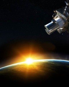 The Stratospheric Aerosol and Gas Experiment III (SAGE-III) instrument, seen in this artistic rendering, is scheduled to launch to the International Space Station in 2015. It will capture remote Earth sensing data of the aerosols in the atmosphere. (NASA)