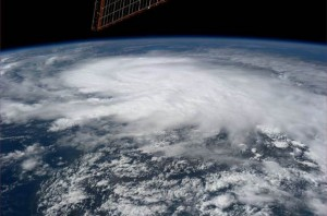 Hurricane Raymond as photographed by astronaut Karen Nyberg from the vantage point of the International Space Station on October 22, 2013. (NASA)