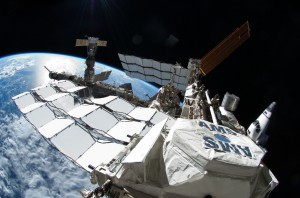 The Alpha Magnetic Spectrometer-02 (AMS-02) operating aboard the International Space Station. (NASA)