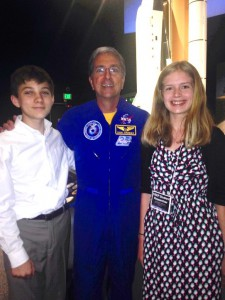 Eamon Shaw and Nicole Ficklin with astronaut Dr. Don Thomas at the NCESSE National Conference (Lisa Shaw)
