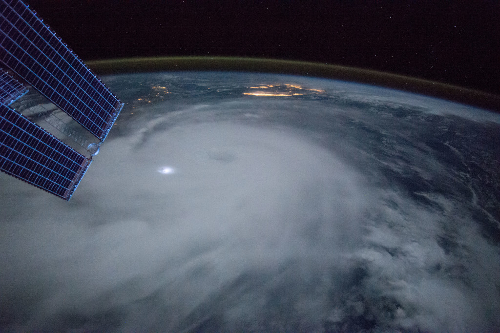 Observation of Hurricane Joaquin taken by the Expedition 45 crew aboard the ISS.
