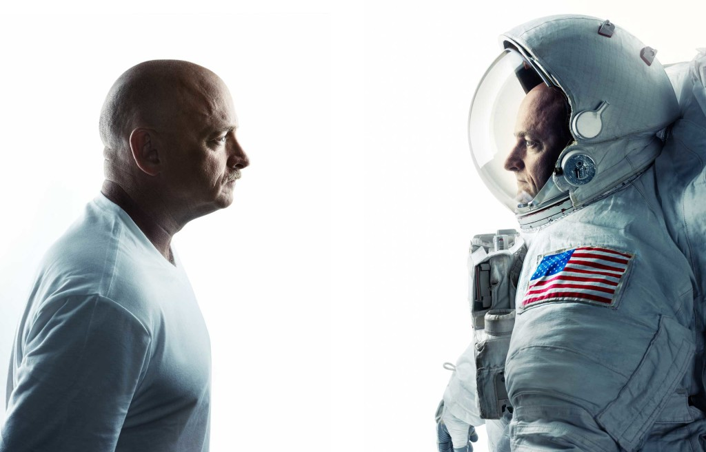 Retired astronaut Mark Kelly (L) and his identical twin brother Scott (R) are participating in a series of genetics studies as part of the One Year Mission.