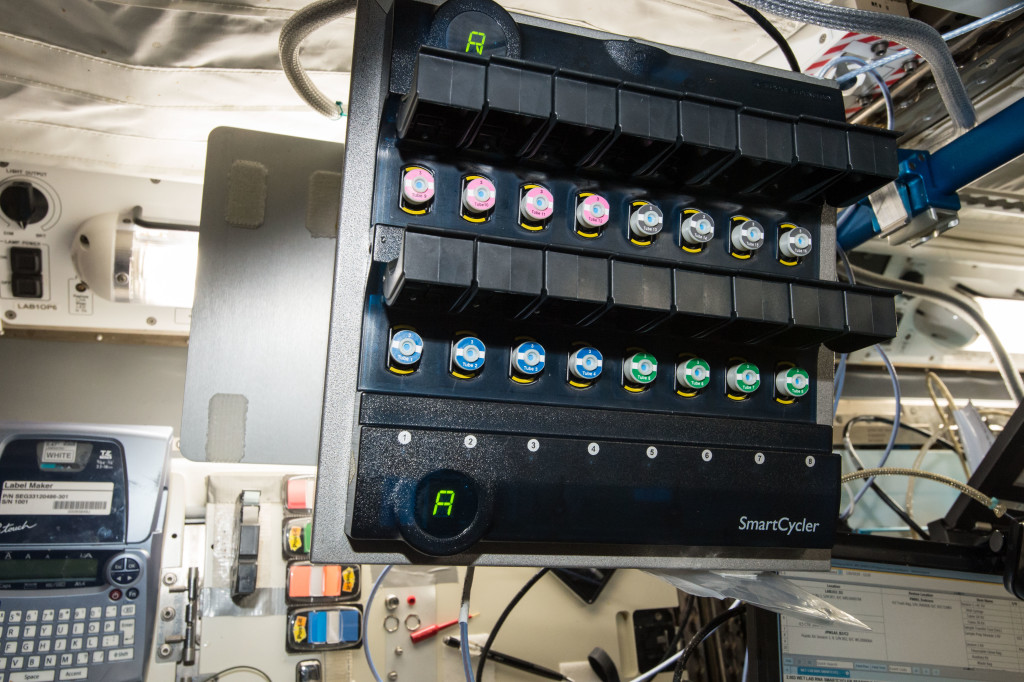 The WetLab RNA SmartCycler allows station crew members to extract RNA from multiple types of biological specimens in less than 30 minutes. Credits: NASA
