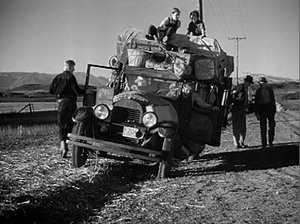 "Image of the Joad's 1926 Hudson Super Six from ""Grapes of Wrath"" (1940), 20th Century Fox"