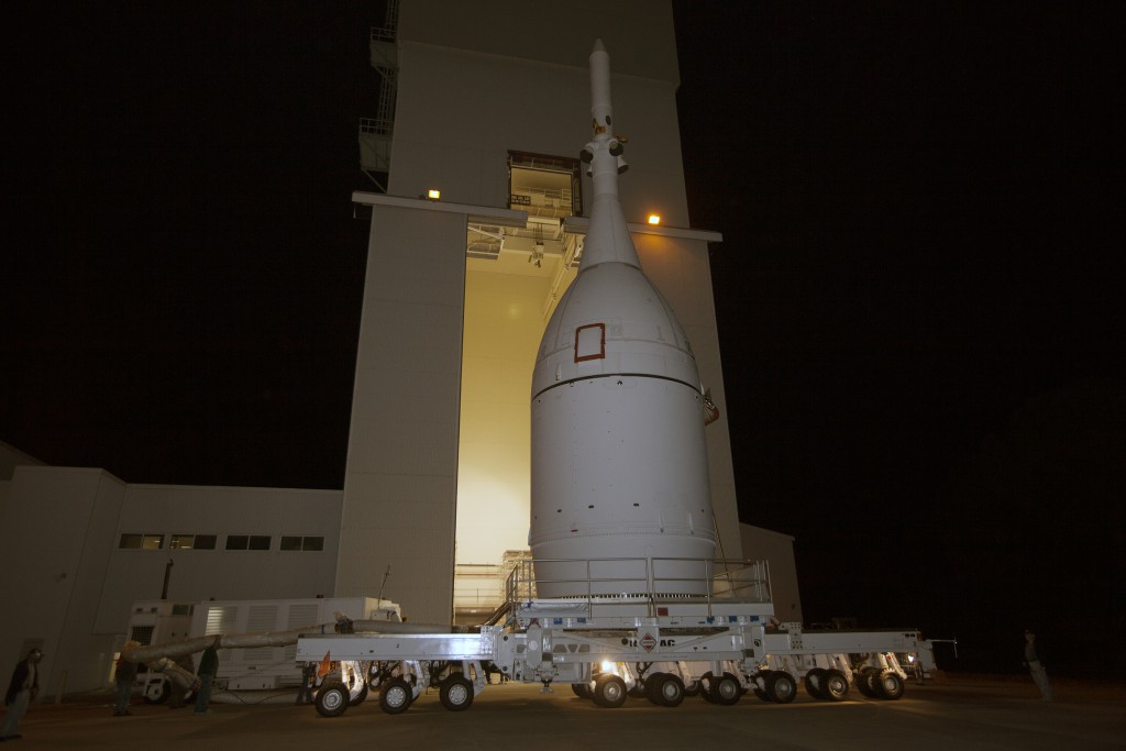 Orion roll-out for stacking for EFT-1