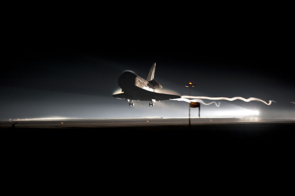 Atlantis makes the final landing of the space shuttle program