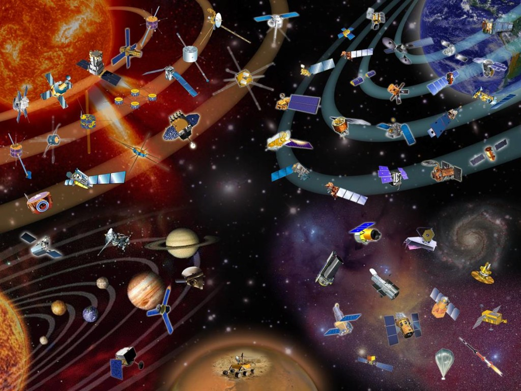 Graphic showing missions managed by NASA's Goddard Space Flight Center