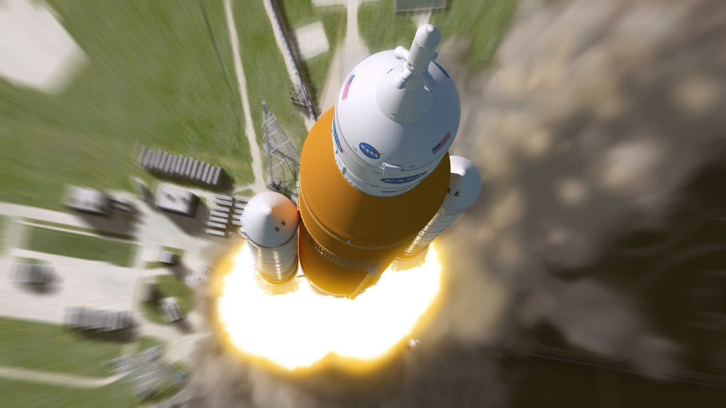 Artist's version of SLS during launch