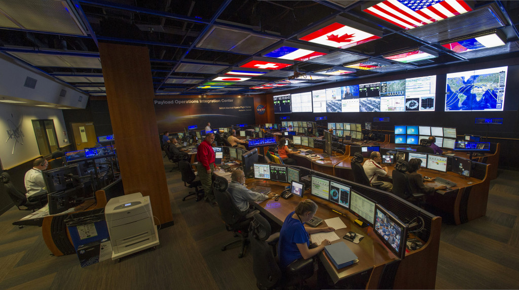The Payload Operations Center at Marshall Space Flight Center