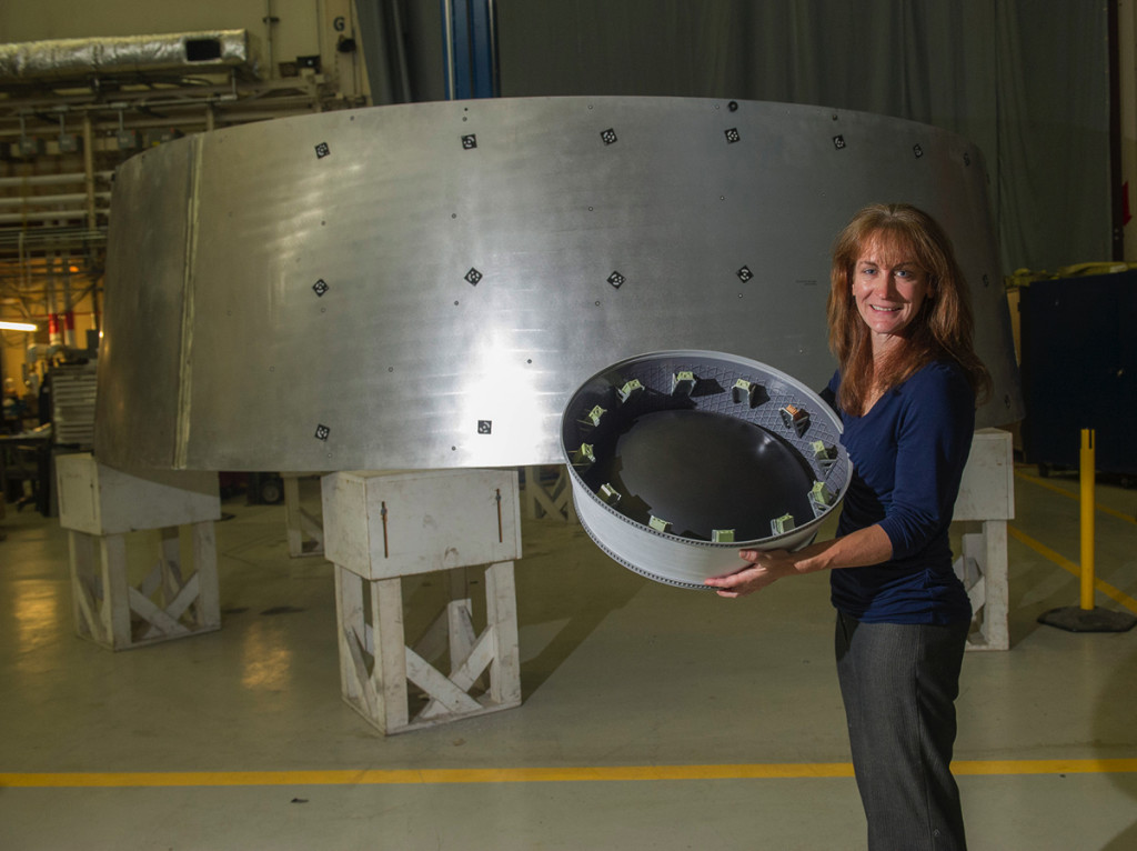 The Orion Stage Adapter being designed and manufactured at NASA'S Marshall Space Flight Center in Huntsville, Ala. nears completion.