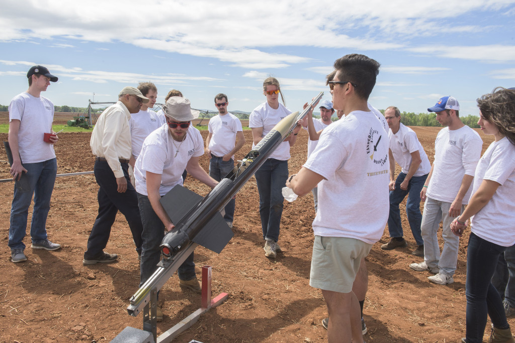 Vanderbilt University rocketry team launches rocket