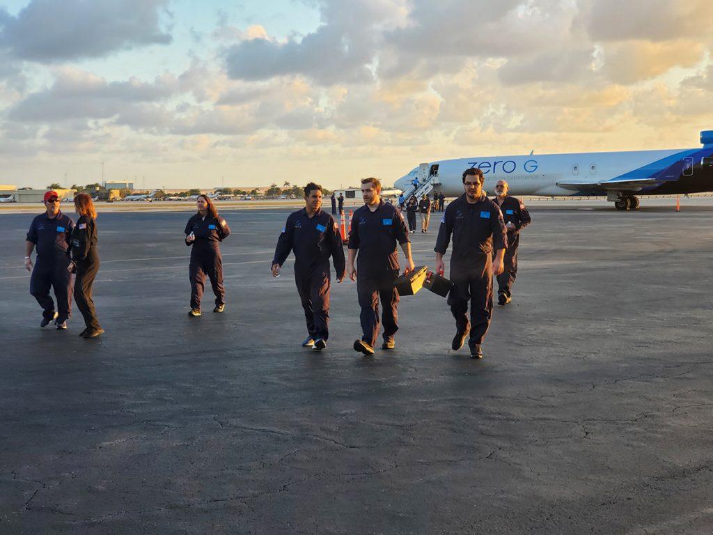Marshall's parabolic flight crew