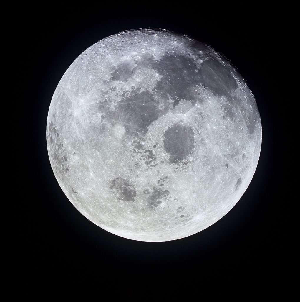 Full Moon Photographed From Apollo 11 Spacecraft