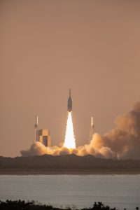 NASA successfully demonstrated the Orion spacecraft's LAS can outrun a speeding rocket and pull astronauts to safety in case of an emergency during launch.
