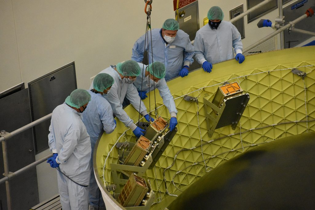 BIOSENTINEL installed in OSA and other CubeSats in OSA