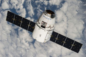 The Dragon capsule from the fifth SpaceX commercial resupply mission flies in space. Credit: NASA/Kennedy Space Center