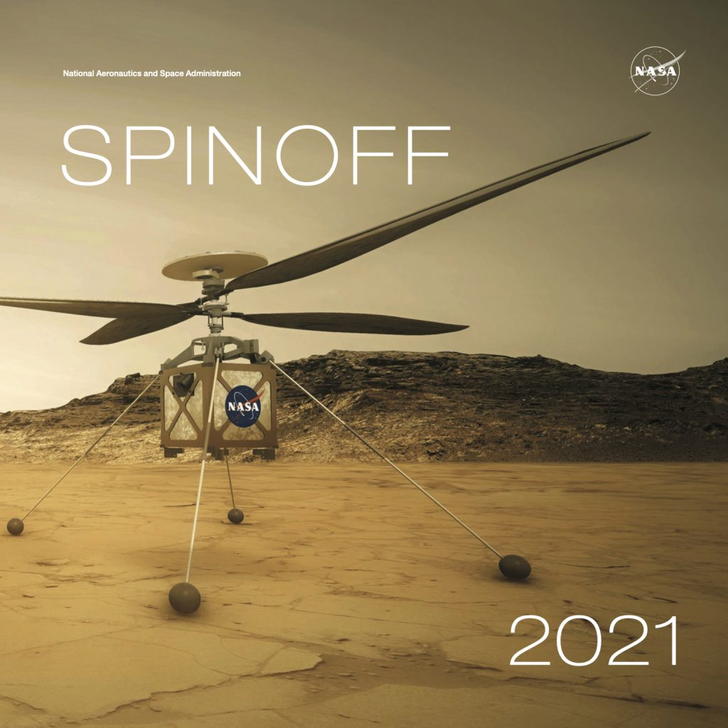 The redesigned 2021 NASA Spinoff publication features dozens of NASA innovations improving life on Earth.