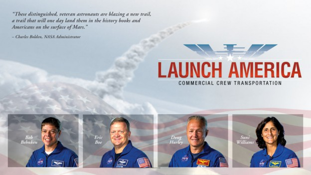 NASA Selects Astronauts for First U.S. Commercial Spaceflights