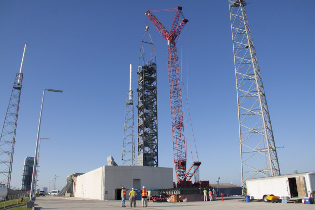 Crew Access Tower Nears Completion