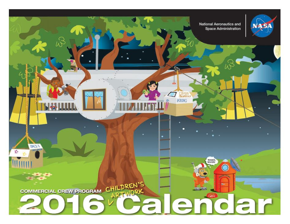 2016 Commercial Crew Children's Artwork Calendar