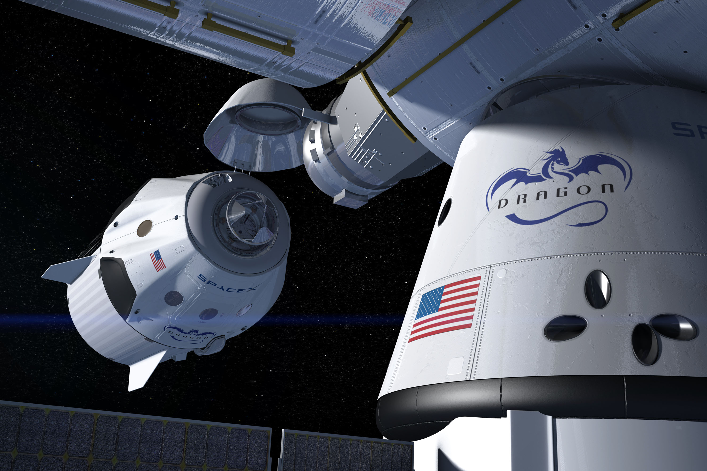 dragon spacecraft video - HD 1320×880