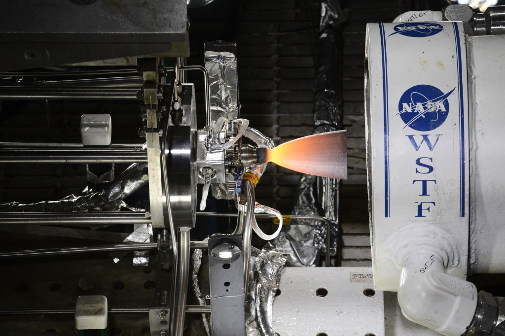 One of three Reaction Control System engines for Boeing's CST-100 Starliner recently completed hot-fire testing at NASA's White Sands Test Facility in New Mexico.