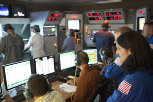 Commerical Crew Program (CCP) astronauts visit Aerojet Rocketdyne to see engine test.
