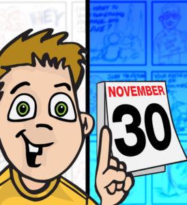 Boy and Calendar