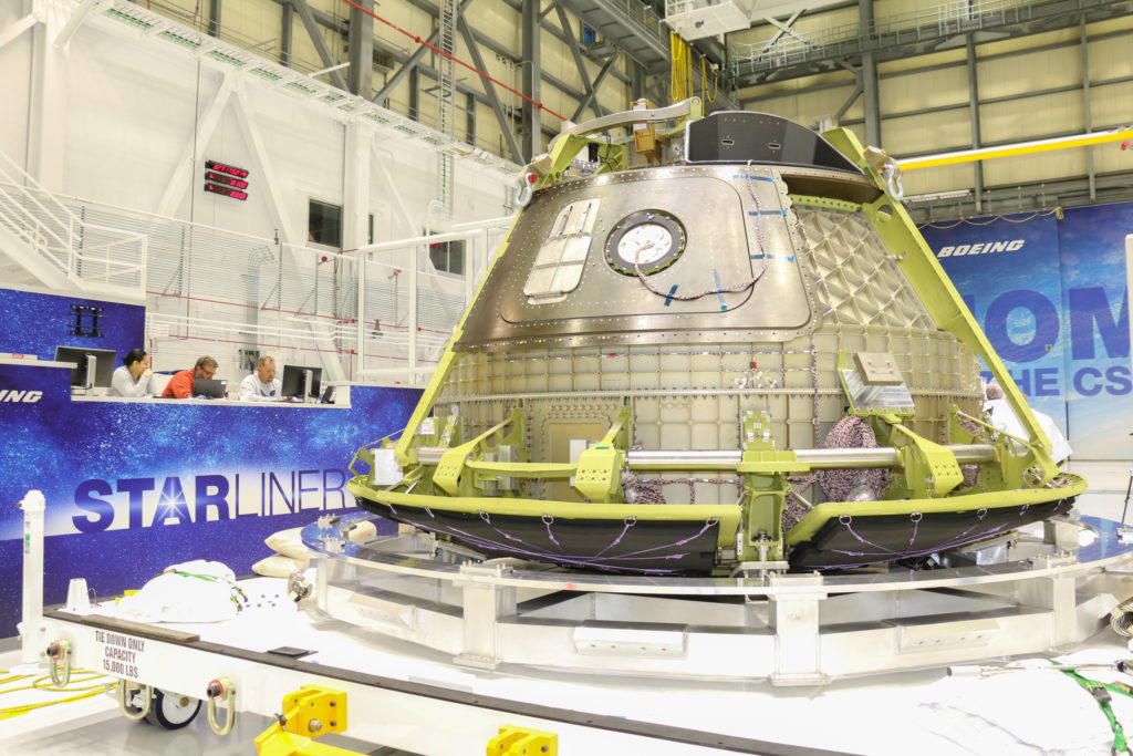 Boeing's CST-100 Structural Test Article Ready for Shipment to B
