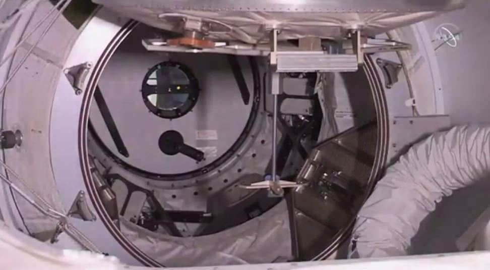 The SpaceX Crew Dragon hatch was closed at 12:39 p.m. EST on Thursday, March 7.