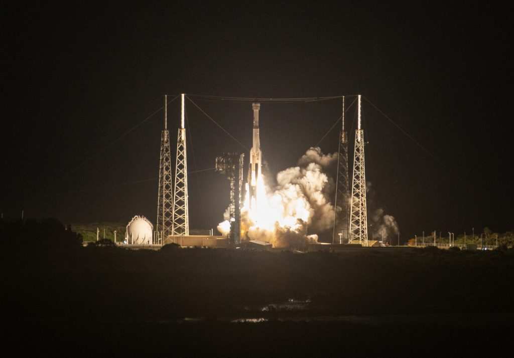 A two-stage United Launch Alliance Atlas V rocket lifts off from Space Launch Complex 41 at Cape Canaveral Air Force Station in Florida for Boeing's Orbital Flight Test, Dec. 20, 2019. Liftoff occurred at 6:36 a.m. EST. The uncrewed Orbital Flight Test is the Starliner's first flight to the International Space Station for NASA's Commercial Crew Program.