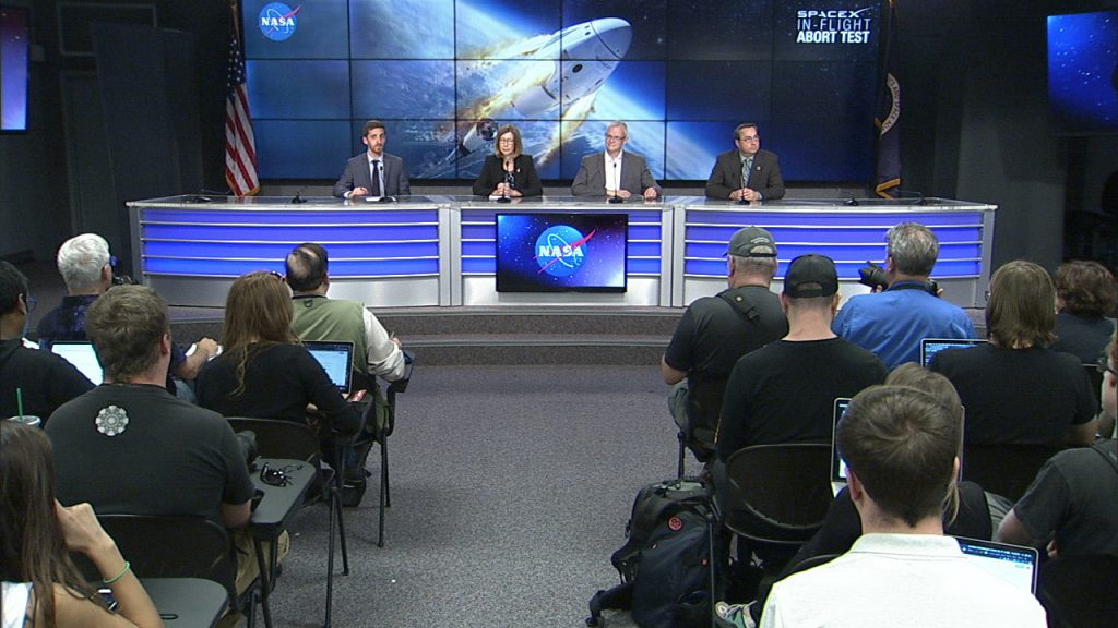 In-Flight Abort Pretest News Conference