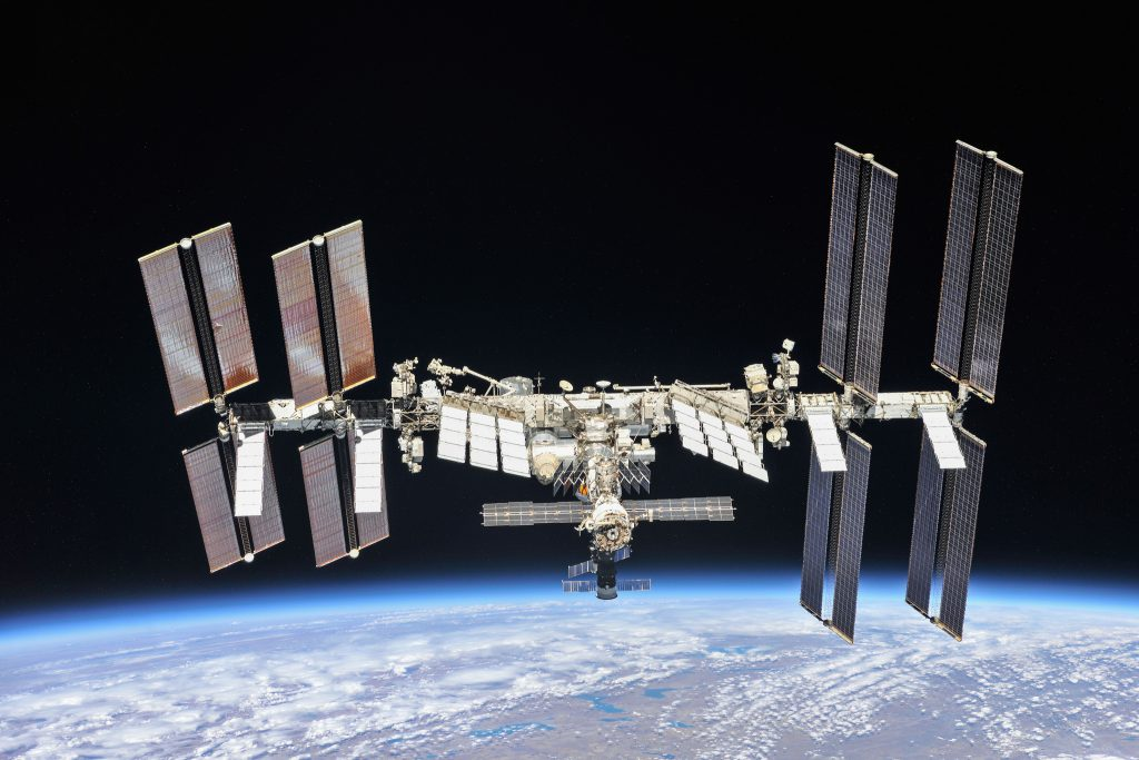 International Space Station in low-Earth orbit