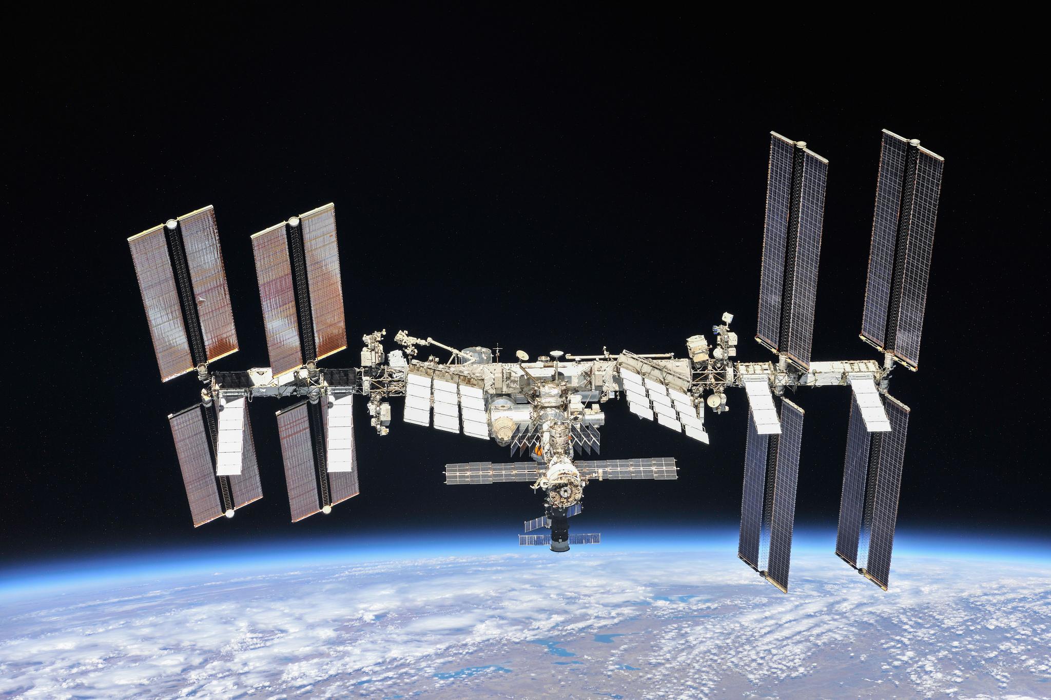 International Space Station in low-Earth orbit