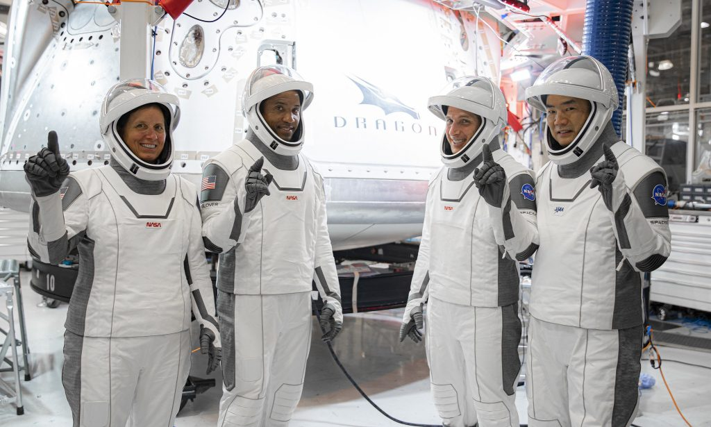Crew-1 astronauts in training