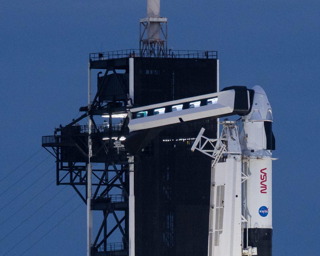 Crew-1 rocket on the pad