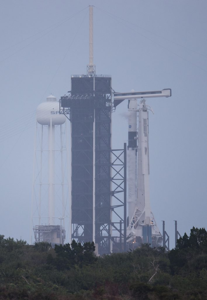 Crew-1 rocket on pad