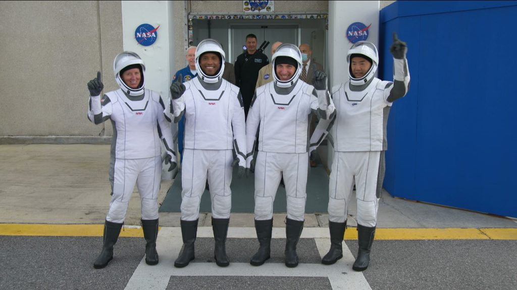 Crew-1 walkout