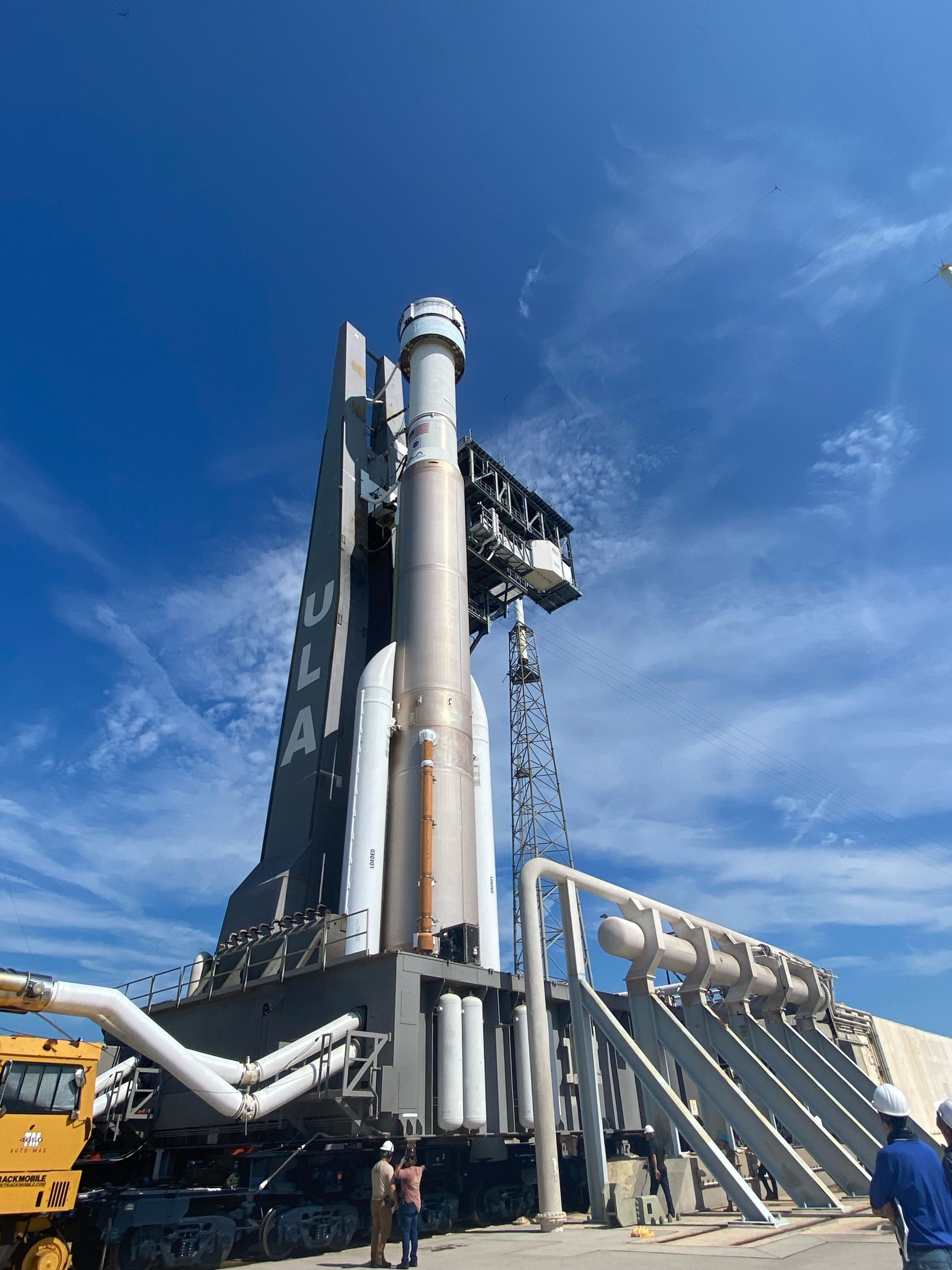 On July 29, 2021, Boeing's CST-100 Starliner spacecraft and the United Launch Alliance Atlas V rocket rolled out of the Vertical Integration Facility to the launch pad at Space Launch Complex-41 on Cape Canaveral Space Force Station in Florida. Starliner will launch on the Atlas V for Boeing's second uncrewed Orbital Flight Test (OFT-2) for NASA's Commercial Crew Program. OFT-2 is an important uncrewed mission designed to test the end-to-end capabilities of the new system for NASA's Commercial Crew Program.