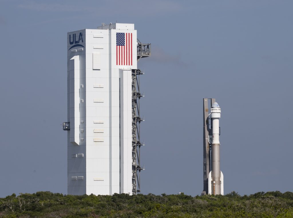 A United Launch Alliance Atlas V rocket with Boeing's CST-100 Starliner spacecraft