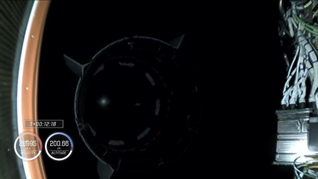Crew-1 spacecraft separation