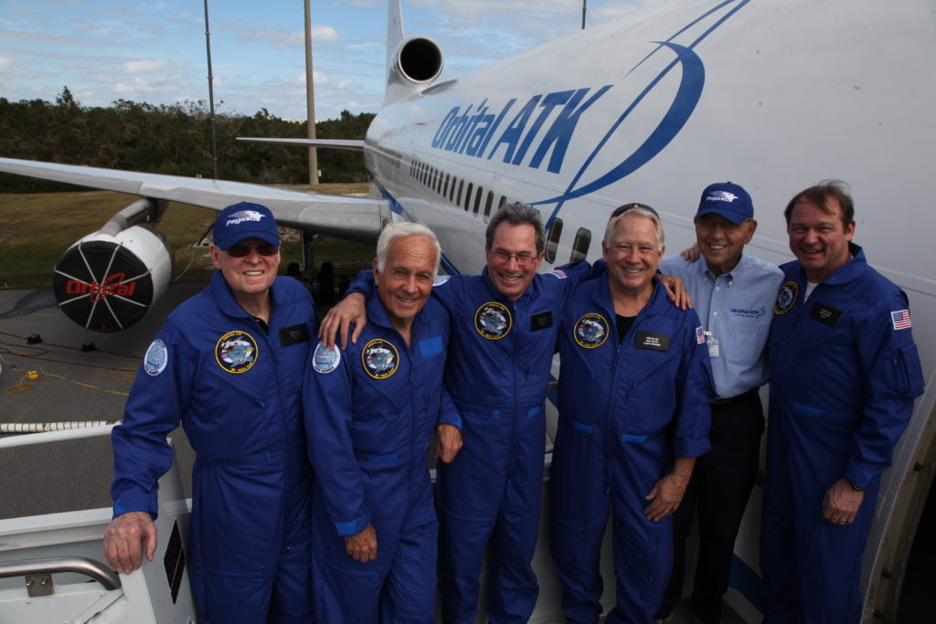 The Orbital ATK Stargazer L-1011 flight crew.