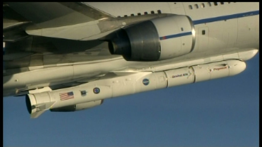 Pegasus XL mounted to L-1011 aircraft.