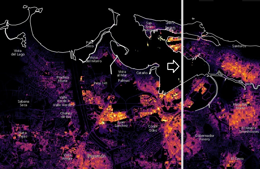 Puerto Rico Power Outages Tracked by Satellite – NASA Disaster