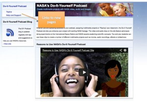 Screen grab from the DIY Podcast home page