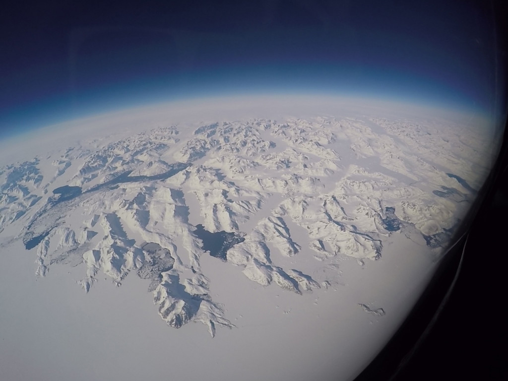 Greenland from the air.