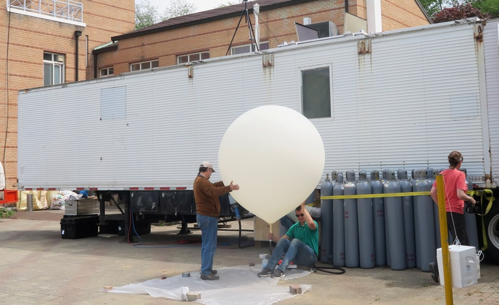 Science instrument rises into the air.