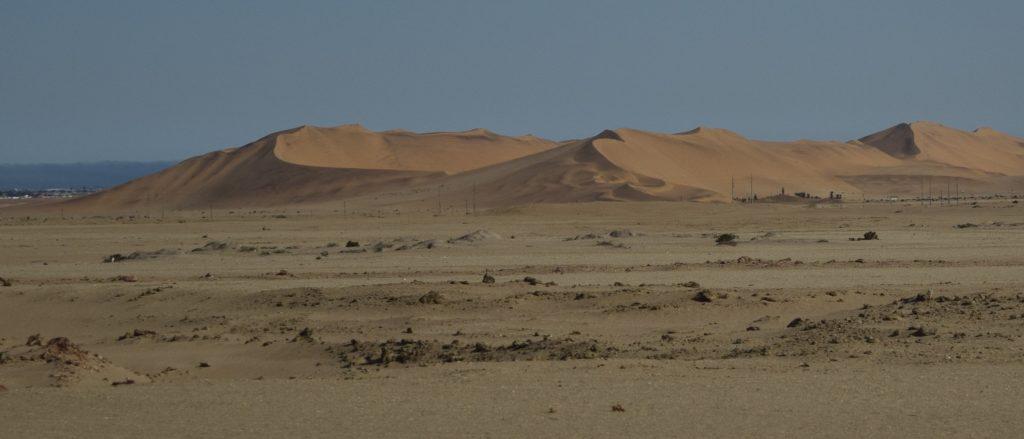 Dunes of the Namib Desert near Walvis Bay, Namibia. Credit: NASA/Jane Peterson
